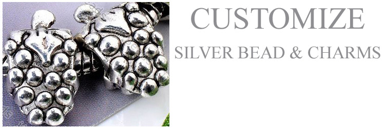 customize 925 silver beads