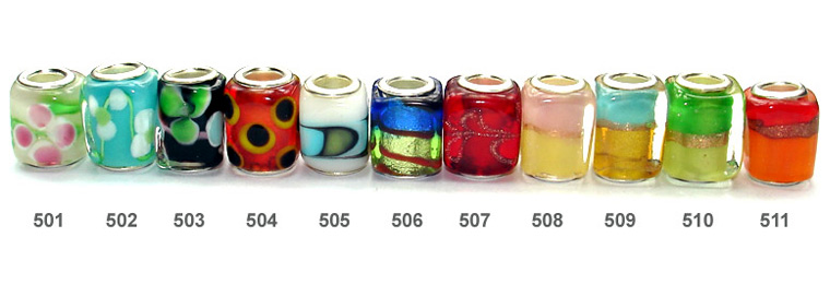 silver core glass bead catalog
